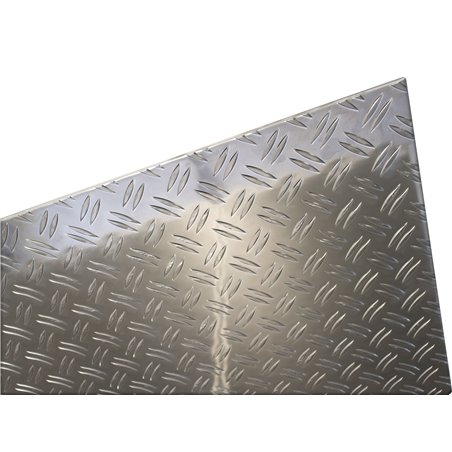 aluminium traanplaat 500 x 1000 x 3,5-5mm