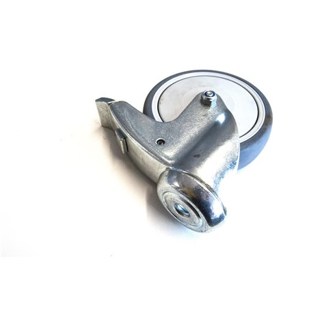 zwenkwiel met rem 125mm met boutgatbevestiging
