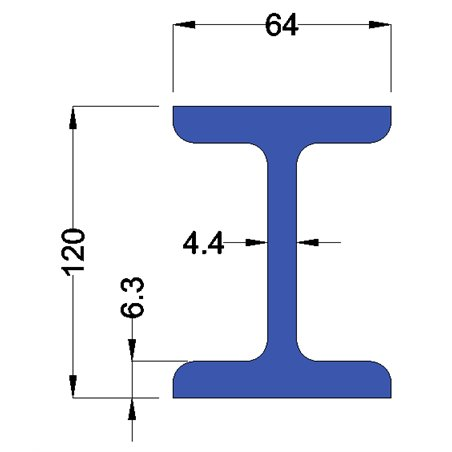 IPE120 constructiebalk