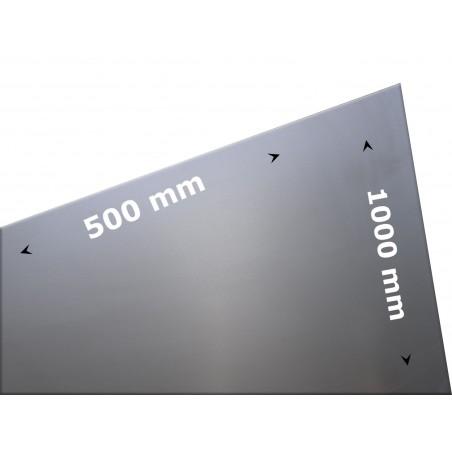 plaat staal 500 x 1000 x 0.75mm