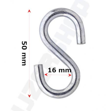 verzinkte s-haak 50x16mm