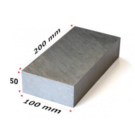 aluminium blok 200x100x50mm