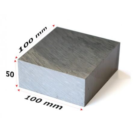 aluminium blok 100x100x50mm