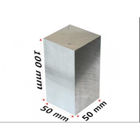 aluminium blok 50x50x100mmm