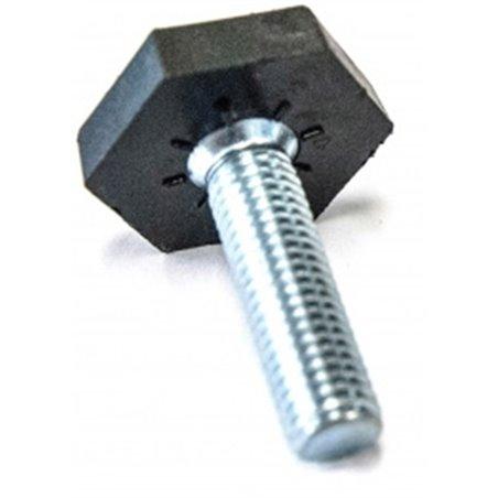 stelvoet zeskant 25mm, M10 x 35mm