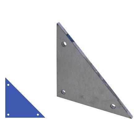 Driehoek aanlasplaat 150 x 150 x 6mm, 3x gat 9mm