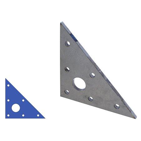 driehoek 150x150x8 gat Ø6mm