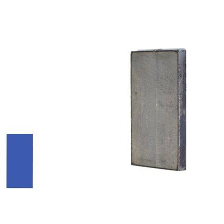 Eindplaat vierkant 80x40x4 mm