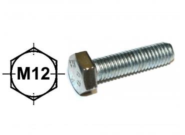 Verzinkte zeskantbout M12,  Al vanaf 0,36 incl Btw. IJZERSHOP