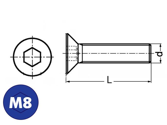 Verzonkenkopbout M8, Online bestellen: IJZERSHOP