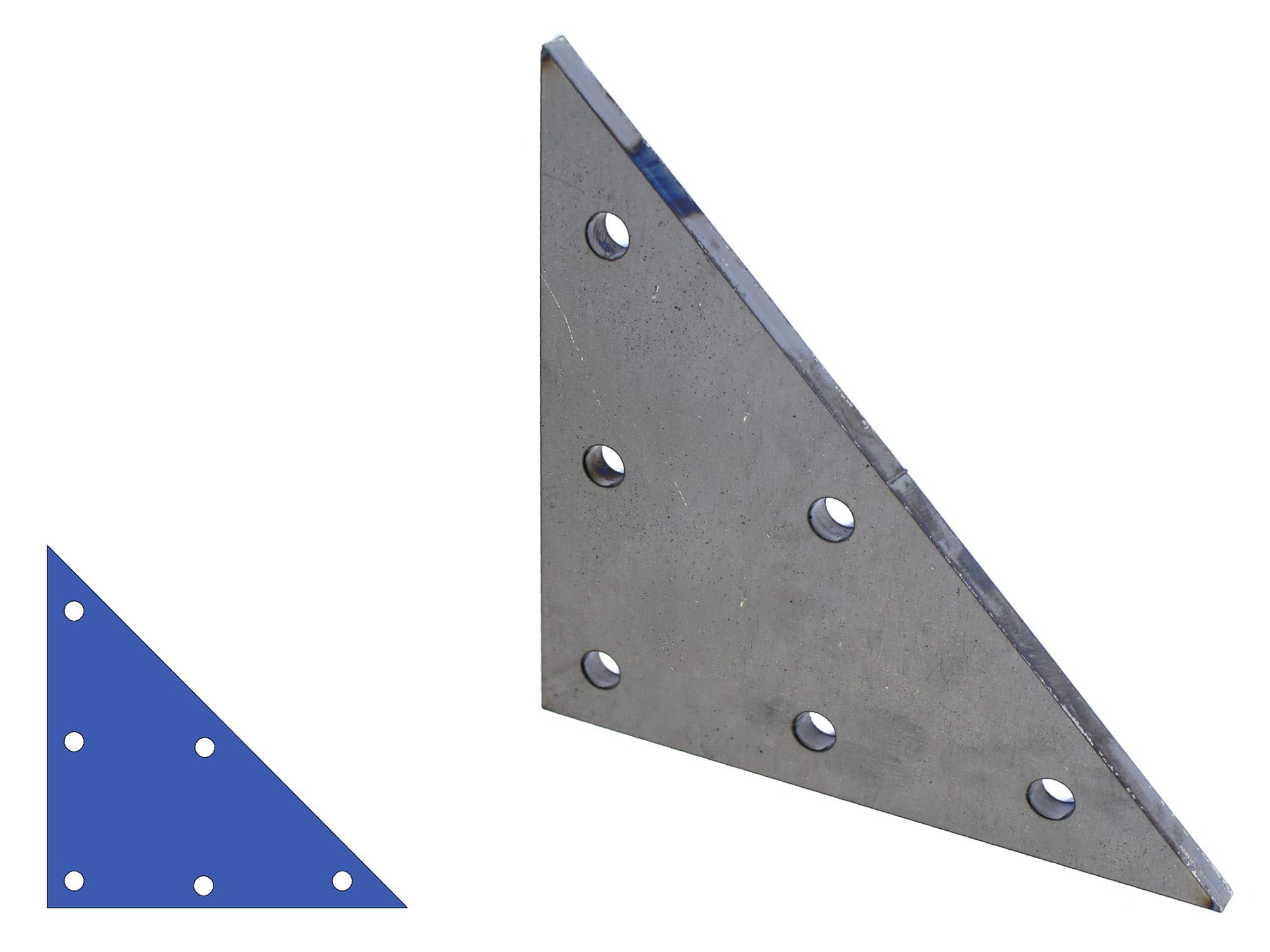 Driehoek aanlasplaat Uniek product!  Online bestellen bij de IJzershop