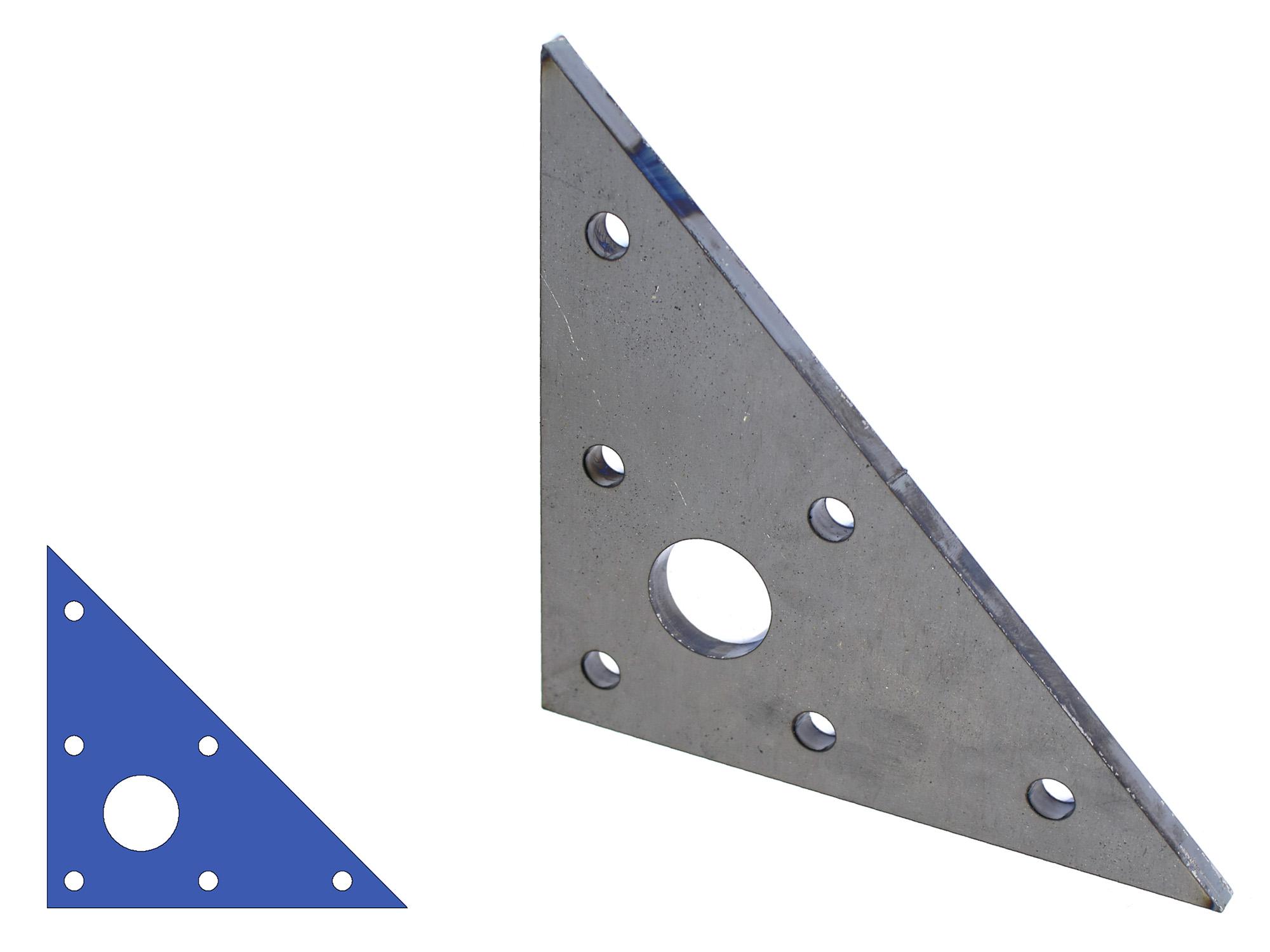 Driehoek met uitsparing