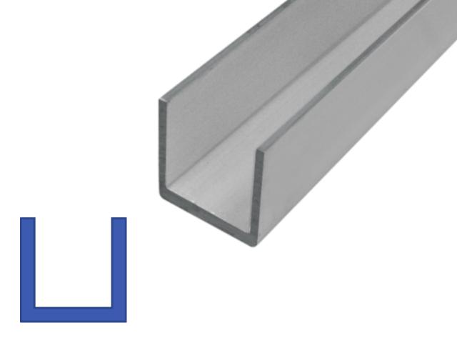 Aluminium|U-profiel gelijkzijdig Online bestellen | €7,75 transportkosten